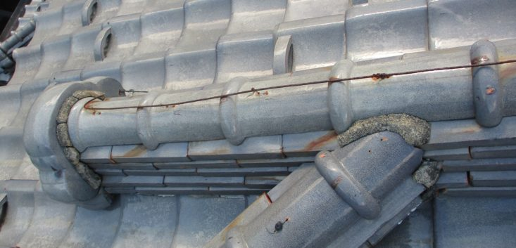 屋根の漆喰腐食