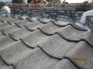 瓦屋根漆喰工事2